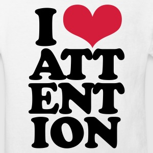 Wit I love attention Kinder shirts - Kinderen Bio-T-shirt