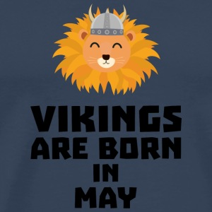 Vikings are born in May S30b1 T-Shirts - Men's Premium T-Shirt