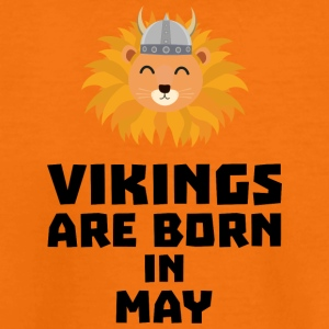 Vikings are born in May S30b1 Shirts - Teenage Premium T-Shirt