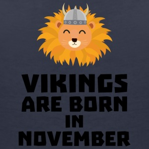 Vikings are born in November Sur82 T-Shirts - Women's V-Neck T-Shirt
