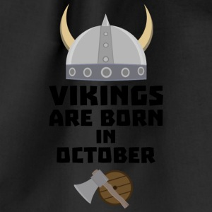 Vikings are born in October Sv005 Bags & Backpacks - Drawstring Bag