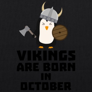Vikings are born in October Svb06 Bags & Backpacks - EarthPositive Tote Bag