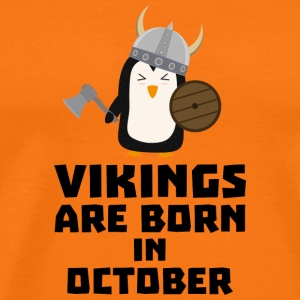 Vikings are born in October Svb06 T-Shirts - Men's Premium T-Shirt