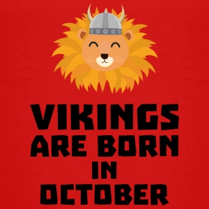 Vikings are born in October S0v8r Shirts - Teenage Premium T-Shirt