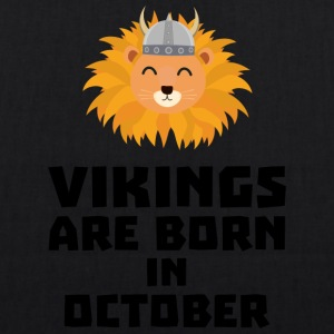Vikings are born in October S0v8r Bags & Backpacks - EarthPositive Tote Bag