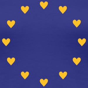 Europe Hearts, Pulse of EU, I love Europa, hjerter T-shirts - Dame premium T-shirt