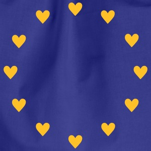 Europe Hearts, Pulse of EU, I love European Union  Tassen & rugzakken - Gymtas