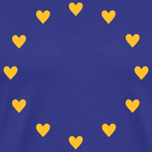 Europa Herzen, Pulse of EU, I love Europe, Flagge T-Shirts - Männer Premium T-Shirt