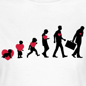 Evolution Heart T-shirts - Vrouwen T-shirt