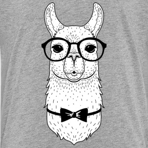 Hipster Llama | Bow Tie & Glasses Shirts - Teenager Premium T-shirt