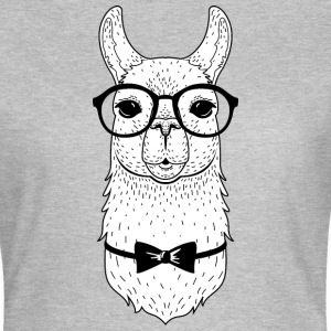 Hipster Llama | Bow Tie & Glasses Tee shirts - T-shirt Femme