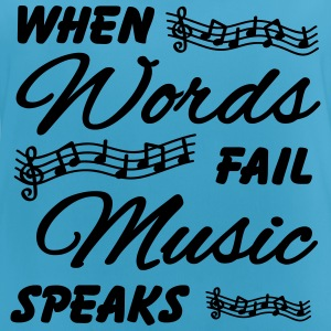 When words fail music speaks Sportkläder - Andningsaktiv tanktopp dam