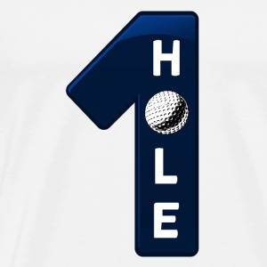 hole in one blau - Männer Premium T-Shirt