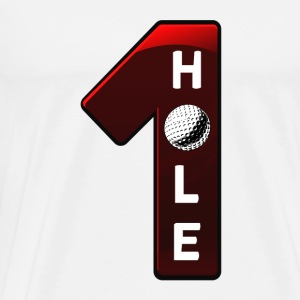 hole in one rot - Männer Premium T-Shirt