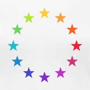 Rainbow Europe Stars, colorful EU, color,  T-Shirts - Women's Premium T-Shirt