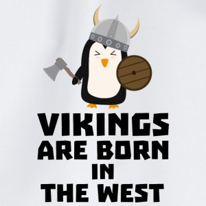Vikings are born in the West S27vo Bags & Backpacks - Drawstring Bag