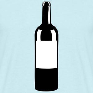 Wine Bottle T-shirts - Mannen T-shirt