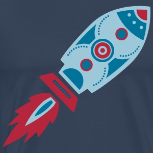 Retro Rakete, Science Fiction, Space, Weltraum T-Shirts - Männer Premium T-Shirt