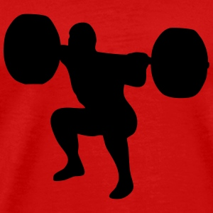 weightlifting, weightlifter, weight lifter T-shirts - Herre premium T-shirt