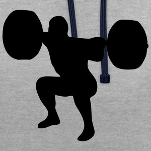 weightlifting, weightlifter, weight lifter Sweatshirts - Kontrast-hættetrøje