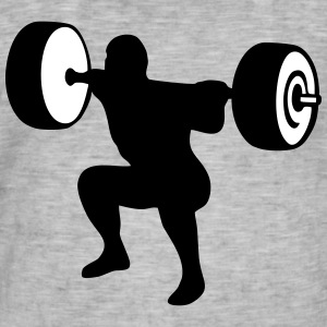 weightlifting, weightlifter, weight lifter Camisetas - Camiseta vintage hombre