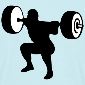 weightlifting, weightlifter, weight lifter T-shirts - T-shirt herr