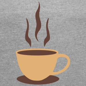 Coffee, Mug T-Shirts - Women's T-shirt with rolled up sleeves