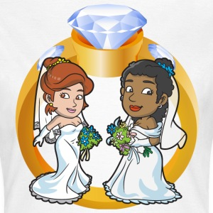 Lesbian Wedding Couple - Women's T-Shirt