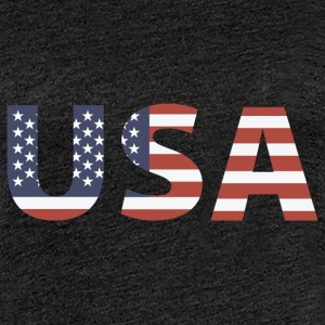 USA - Stars and Stripes T-skjorter - Premium T-skjorte for kvinner