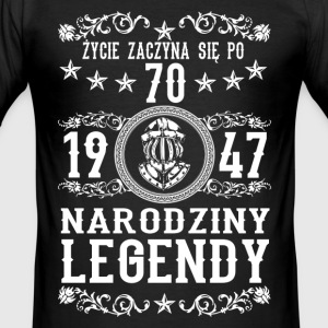 1947 - 70 lat - Legendy - 2017 - PL T-Shirts - Men's Slim Fit T-Shirt