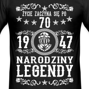 1947 - 70 lat - Legendy - 2017 - PL T-skjorter - Slim Fit T-skjorte for menn