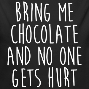 Bring Me Chocolate Funny Quote Baby body - Baby bio-rompertje met lange mouwen