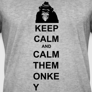 KEEP CALM AND - Männer Vintage T-Shirt
