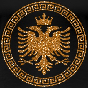 albanian_crown_m_gold T-Shirts - Frauen Premium T-Shirt