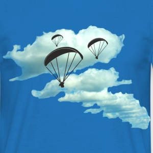wolkenstraße paragliding Tee shirts - T-shirt Homme