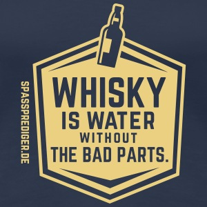 Whisky is water T-Shirts - Frauen Premium T-Shirt