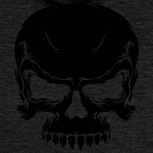 Skull, ZippHood (black)