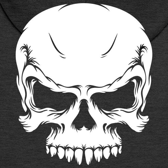 Skull, ZippHood (white)
