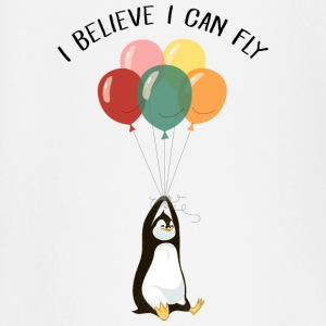 I Believe I Can Fly | Funny Penguin With Balloons Baby Long Sleeve Shirts - Baby Long Sleeve T-Shirt