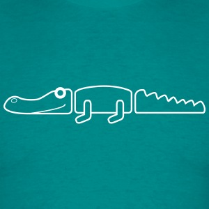 Crocodile simple outline T-shirts - T-shirt herr