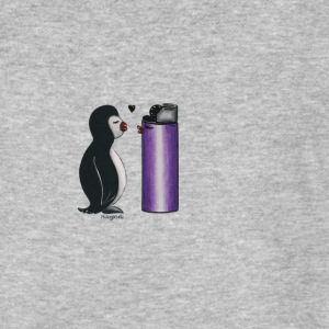 Pinguin in Love - Männer Bio-T-Shirt