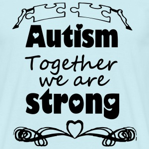 Autism  - together strong  T-Shirts - Men's T-Shirt