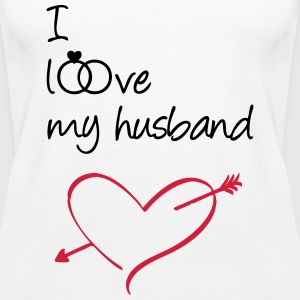 I love my husband Tops - Frauen Premium Tank Top