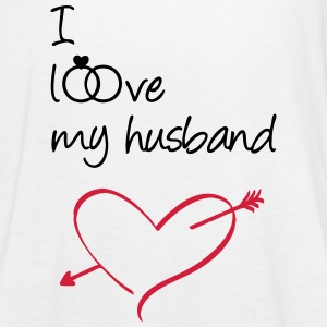 I love my husband Tops - Women's Tank Top by Bella