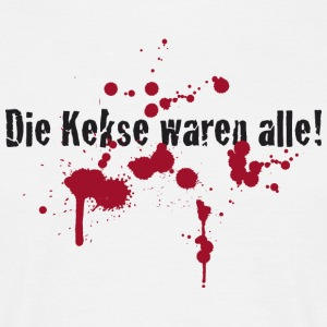 Kekse alle Cookies Blut Blood Halloween Horror - Männer T-Shirt