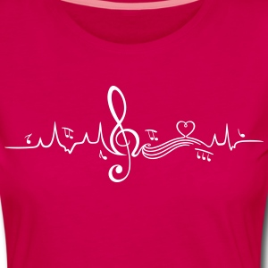 Heartbeat, love for music Long Sleeve Shirts - Women's Premium Longsleeve Shirt