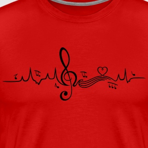 Heartbeat, love for music T-Shirts - Men's Premium T-Shirt