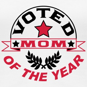 Voted mom of the year T-shirts - Premium-T-shirt dam