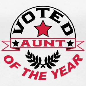 Voted aunt of the year T-shirts - Vrouwen Premium T-shirt