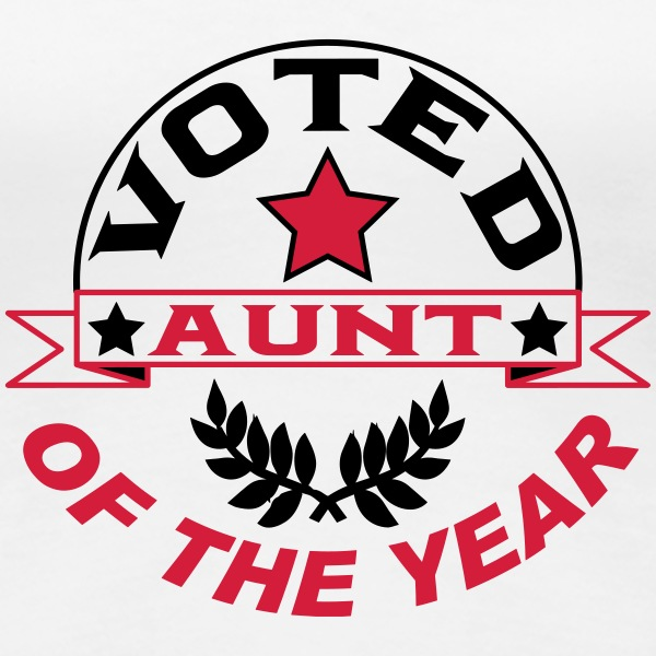 Voted aunt of the year T-shirts - Premium-T-shirt dam